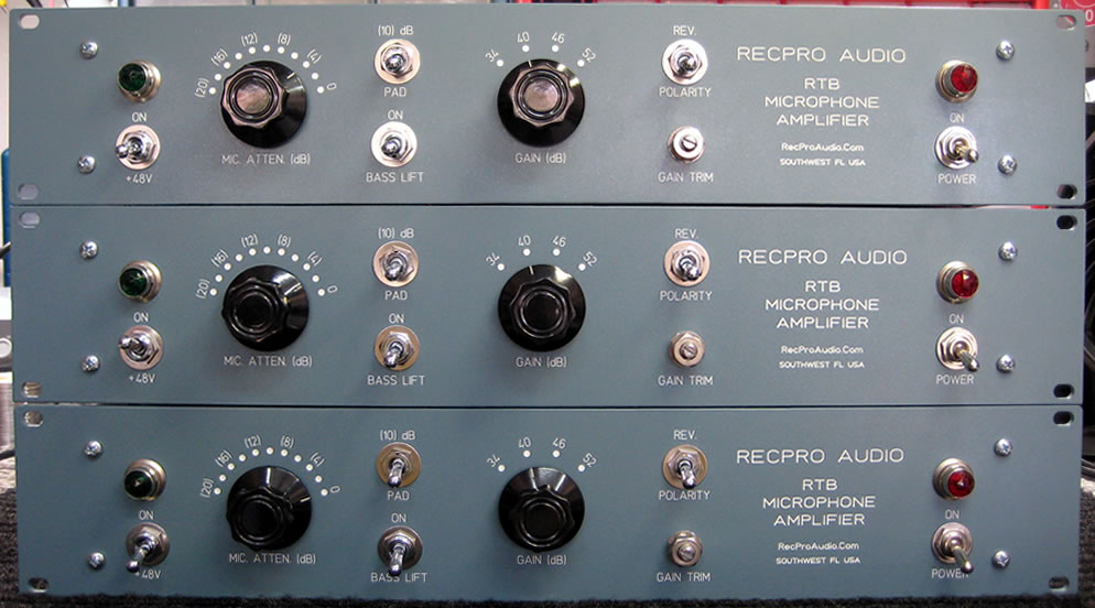RTB Microphone Amplifiers